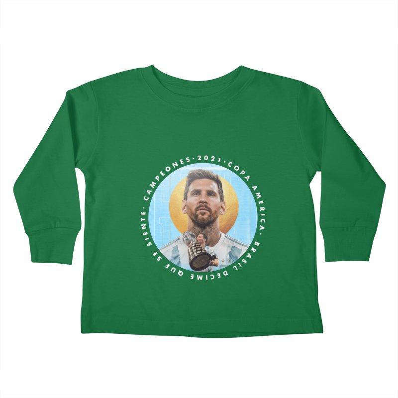 Messi Copa America Kids Toddler Longsleeve T-Shirt by BM Design Shop