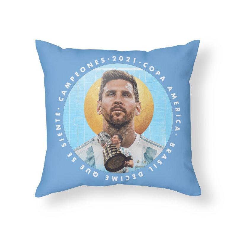 Messi Copa America Home Throw Pillow by BM Design Shop