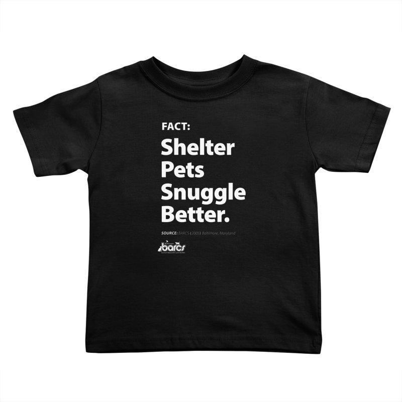 Shelter Pets Snuggle Better Kids Toddler T-Shirt by BARCS Online Shop