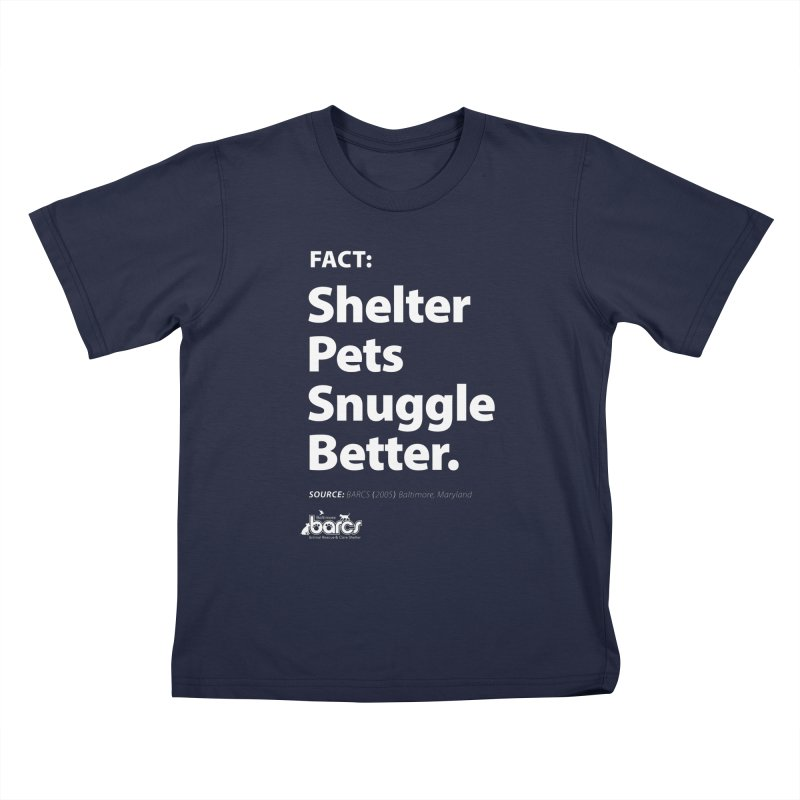 Shelter Pets Snuggle Better Kids T-Shirt by BARCS Online Shop