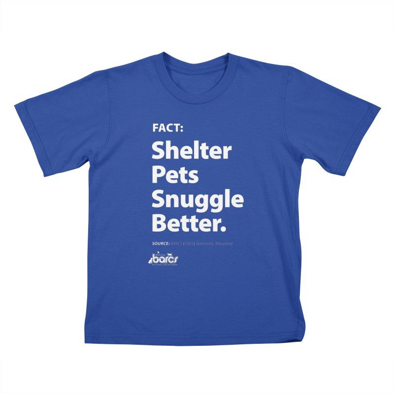 Shelter Pets Snuggle Better Kids T-Shirt by BARCS Online Shop