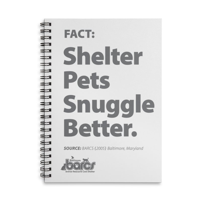 Shelter Pets Snuggle Better Accessories Lined Spiral Notebook by BARCS Online Shop