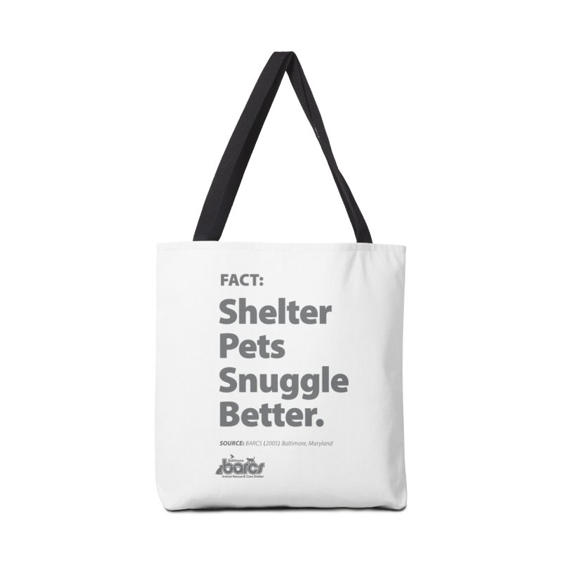 Shelter Pets Snuggle Better Accessories Tote Bag Bag by BARCS Online Shop