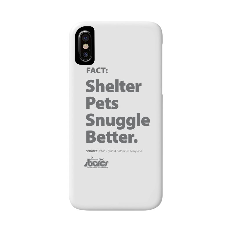 Shelter Pets Snuggle Better in iPhone X / XS Phone Case Slim by BARCS Online Shop