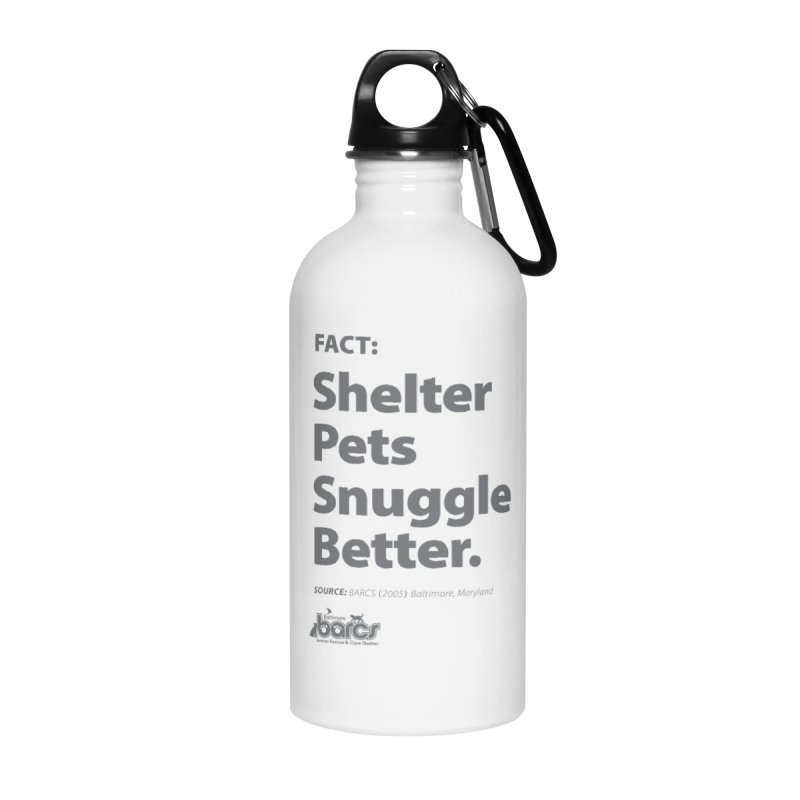 Shelter Pets Snuggle Better Accessories Water Bottle by BARCS Online Shop