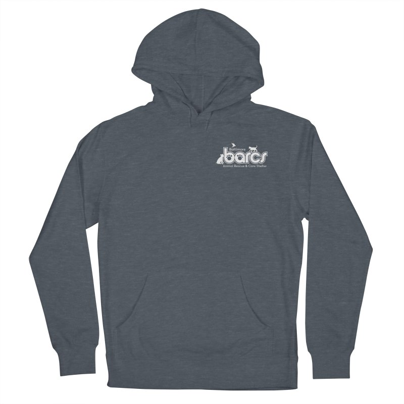 BARCS Logo Chest in Women's French Terry Pullover Hoody Heather Navy Denim by BARCS Online Shop