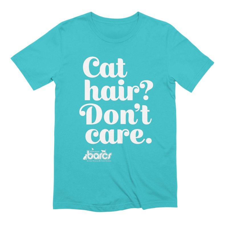 Cat Hair Don't Care in Men's Extra Soft T-Shirt Pacific Blue by BARCS Online Shop