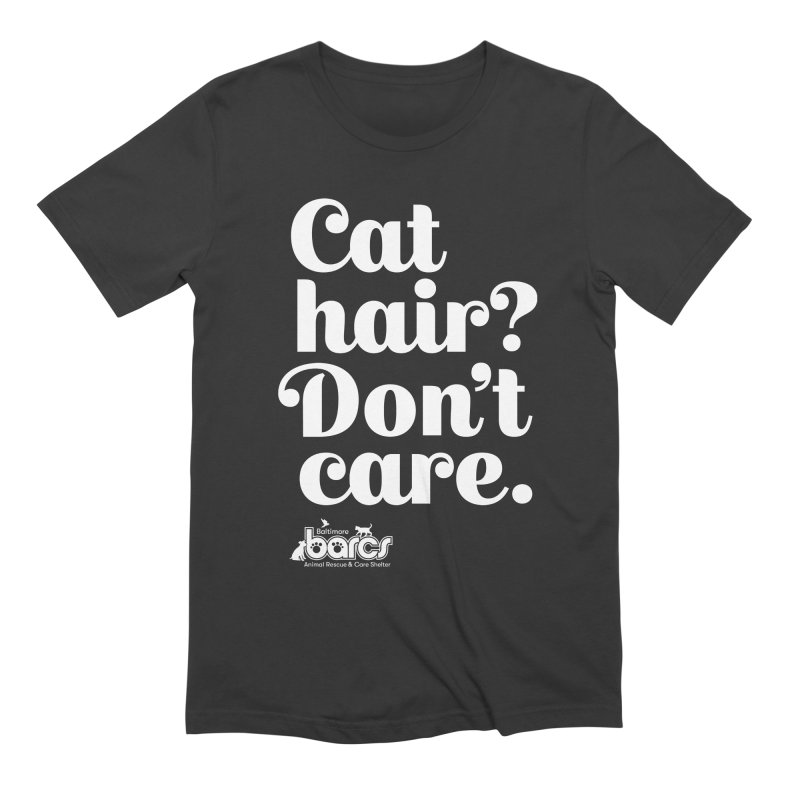 Cat Hair Don't Care in Men's Extra Soft T-Shirt Smoke by BARCS Online Shop