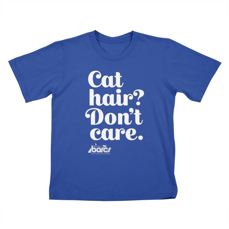 Cat Hair Don't Care Kids T-Shirt by BARCS Online Shop