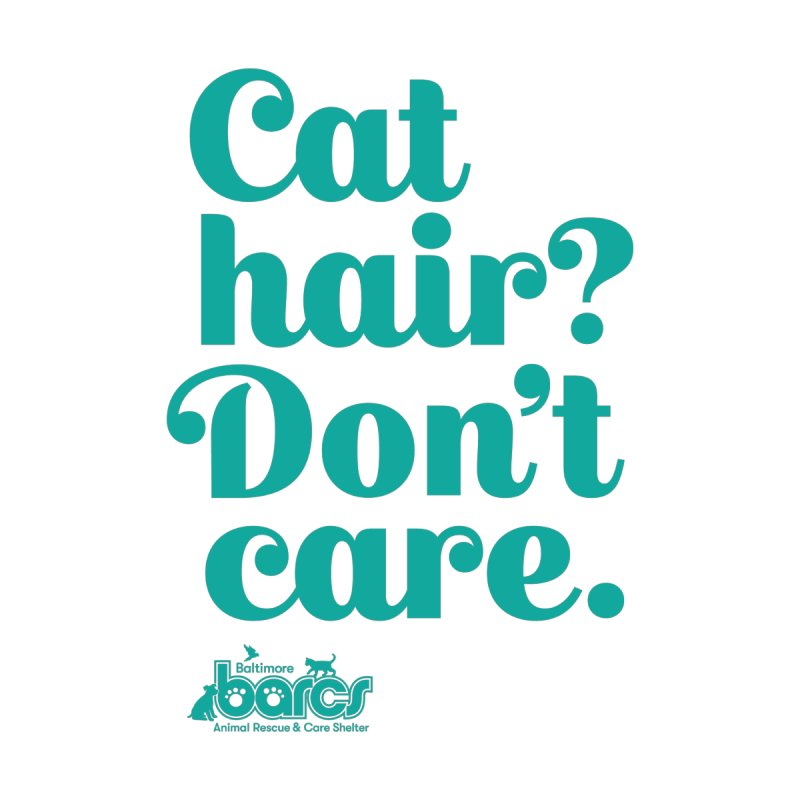 Cat Hair Don't Care Accessories Sticker by BARCS Online Shop