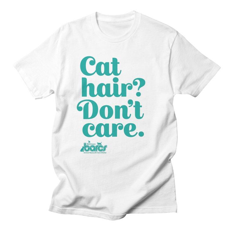 Cat Hair Don't Care Men's T-Shirt by BARCS Online Shop