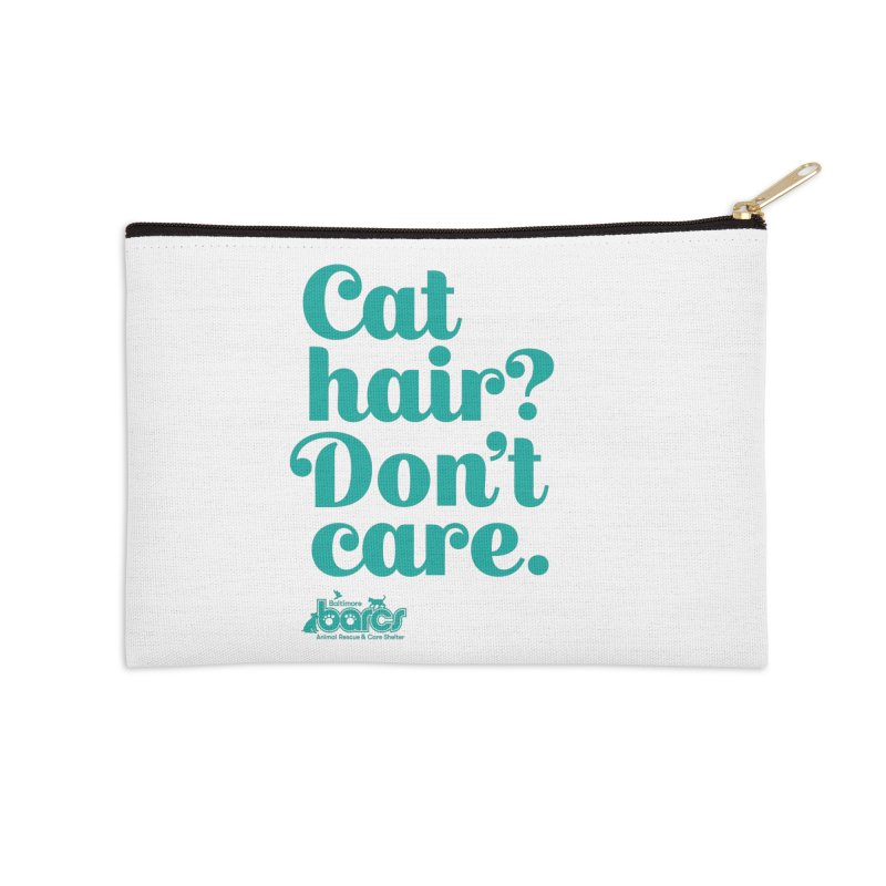 Cat Hair Don't Care Accessories Zip Pouch by BARCS Online Shop