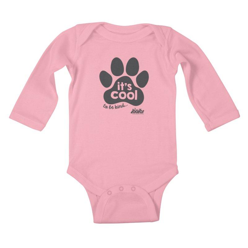 It's Cool to Be Kind Kids Baby Longsleeve Bodysuit by BARCS Online Shop