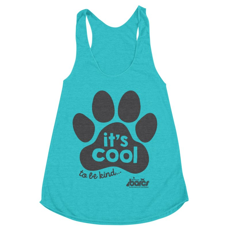 It's Cool to Be Kind Women's Racerback Triblend Tank by BARCS Online Shop
