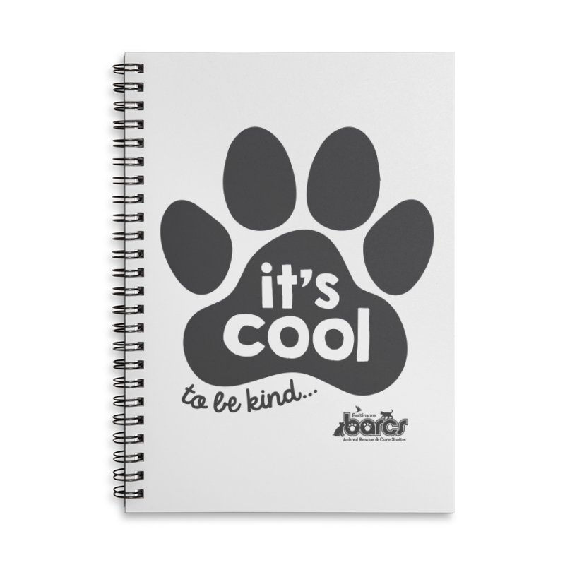 It's Cool to Be Kind Accessories Lined Spiral Notebook by BARCS Online Shop
