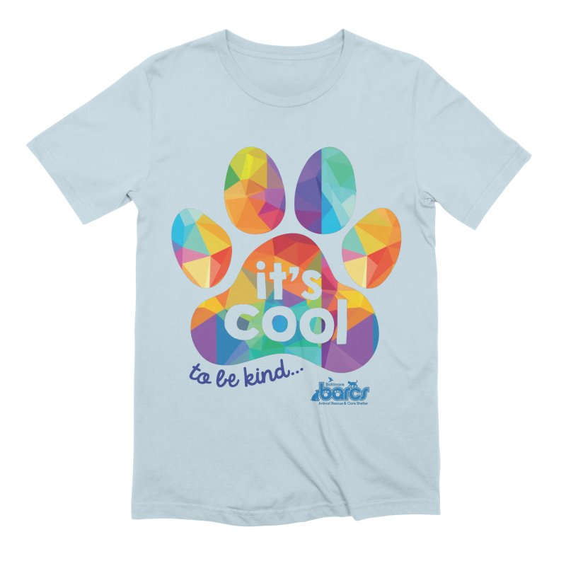 It's Cool to Be Kind Men's Extra Soft T-Shirt by BARCS Online Shop