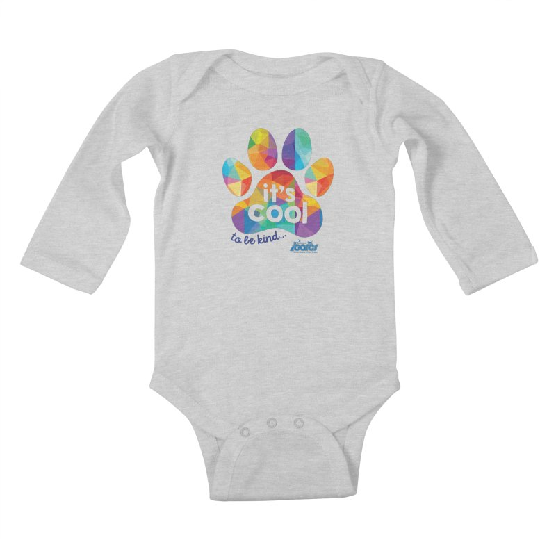 It's Cool to Be Kind Kids Baby Longsleeve Bodysuit by BARCS Online Shop