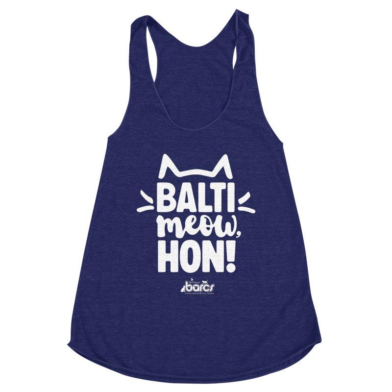 Balti-Meow, Hon! Women's Racerback Triblend Tank by BARCS Online Shop