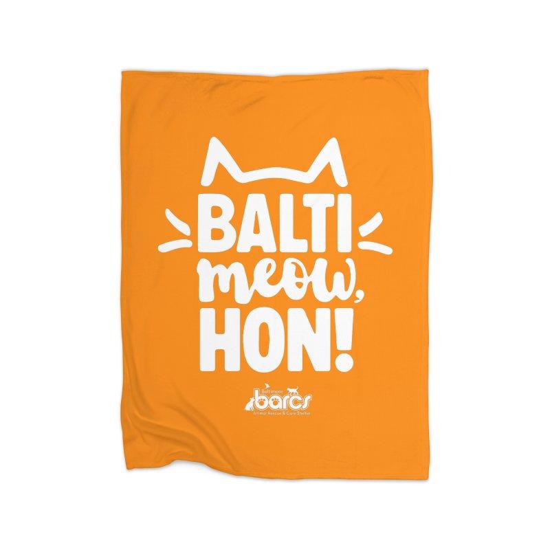Balti-Meow, Hon! Home Fleece Blanket Blanket by BARCS Online Shop