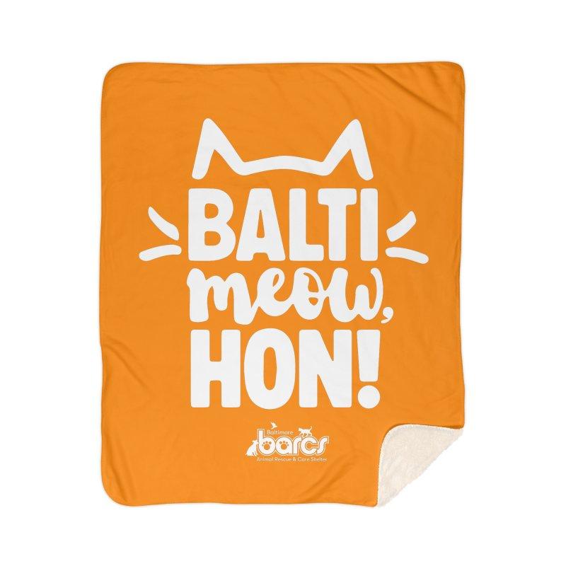 Balti-Meow, Hon! Home Sherpa Blanket Blanket by BARCS Online Shop