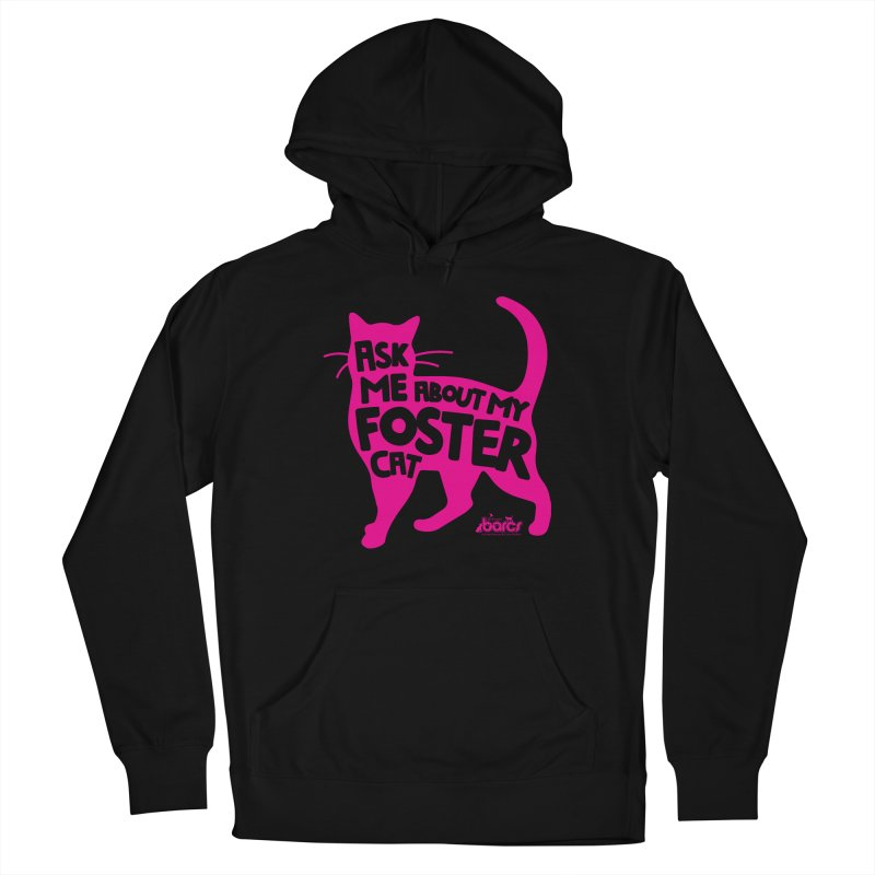 Ask Me About My Foster Cat Men's French Terry Pullover Hoody by BARCS Online Shop