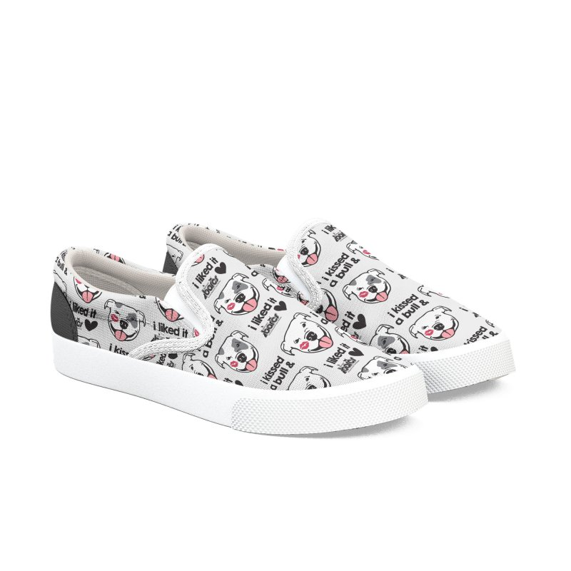 I Kissed a Bull (Pattern) Women's Slip-On Shoes by BARCS Online Shop