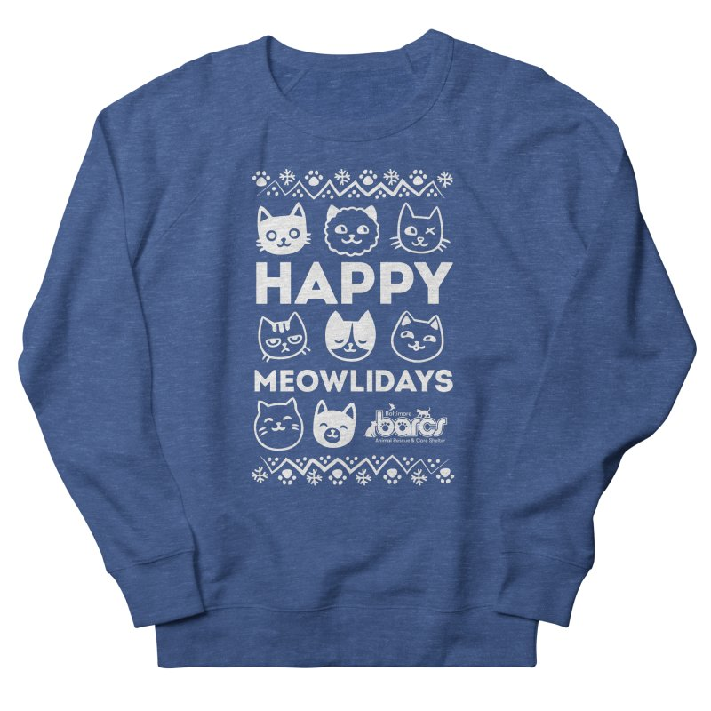 Happy Meowlidays Men's Sweatshirt by BARCS Online Shop