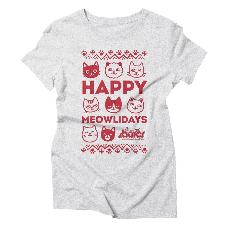 Happy Meowlidays Women's T-Shirt by BARCS Online Shop