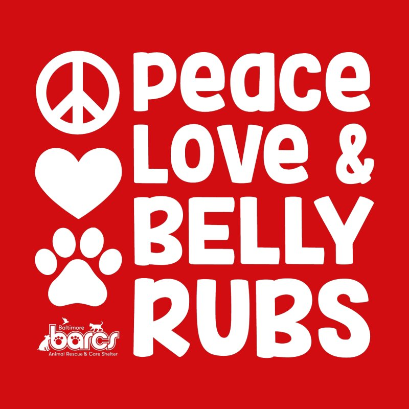 Peace, Love and Belly Rubs Men's Sweatshirt by BARCS Online Shop
