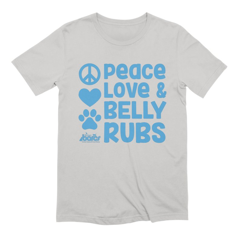 Peace, Love and Belly Rubs Men's T-Shirt by BARCS Online Shop