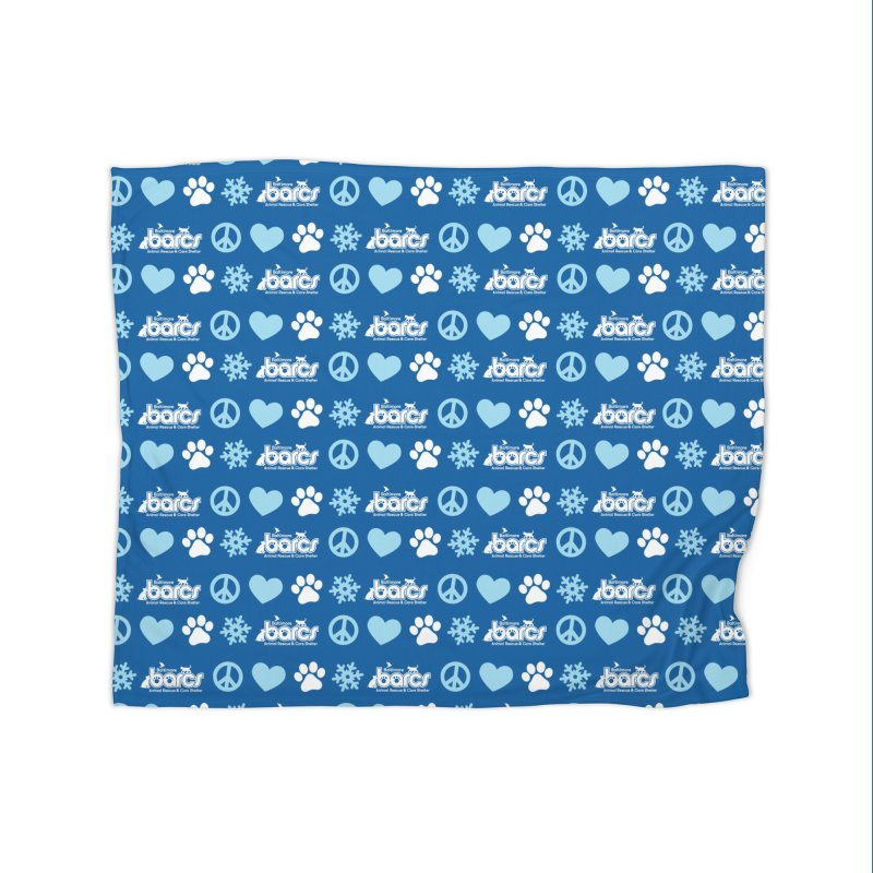Peace, Love and Paws - Holiday Home Blanket by BARCS Online Shop
