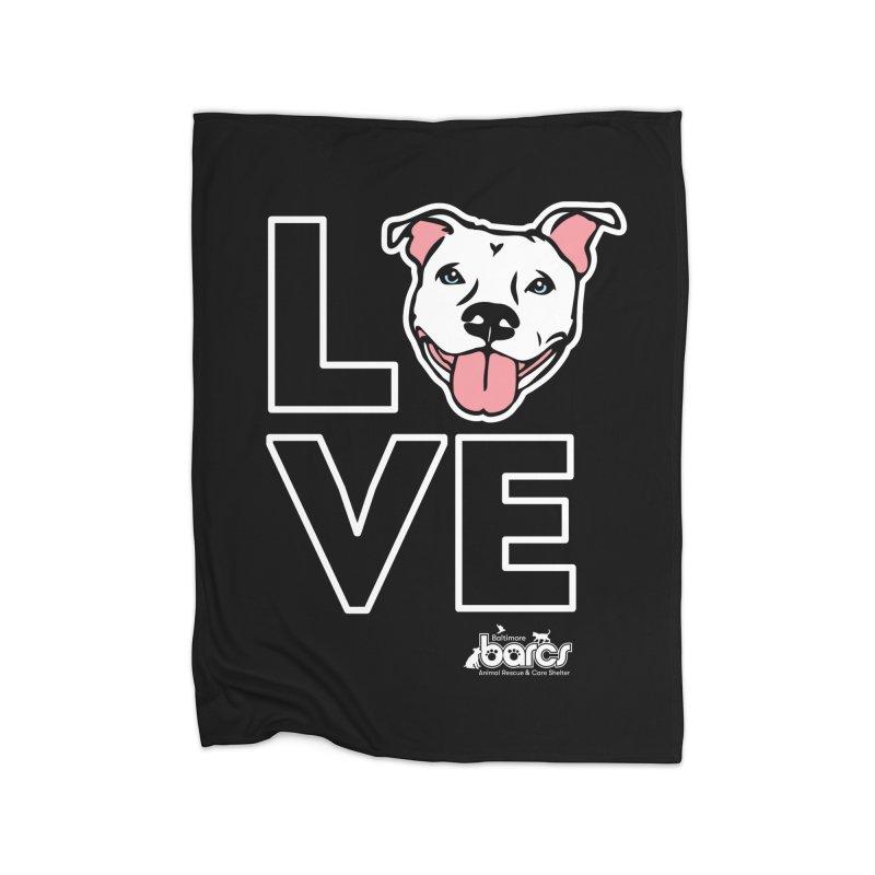 Puppy LOVE (Dark) Home Blanket by BARCS Online Shop