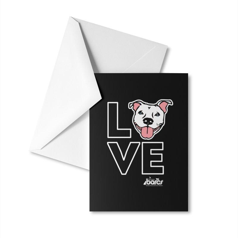Puppy LOVE (Dark) Accessories Greeting Card by BARCS Online Shop