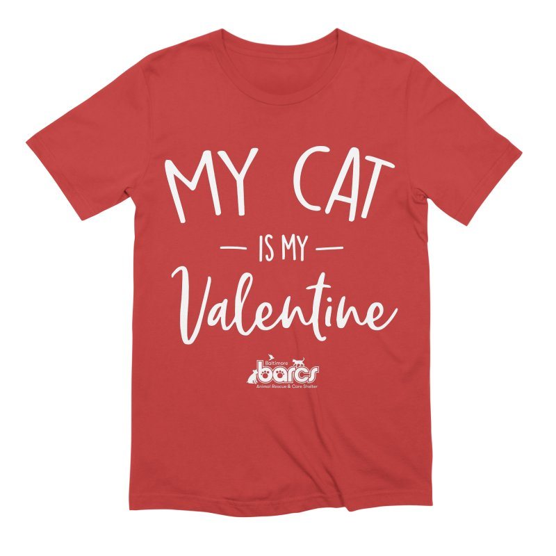 My Cat is my Valentine Men's T-Shirt by BARCS Online Shop