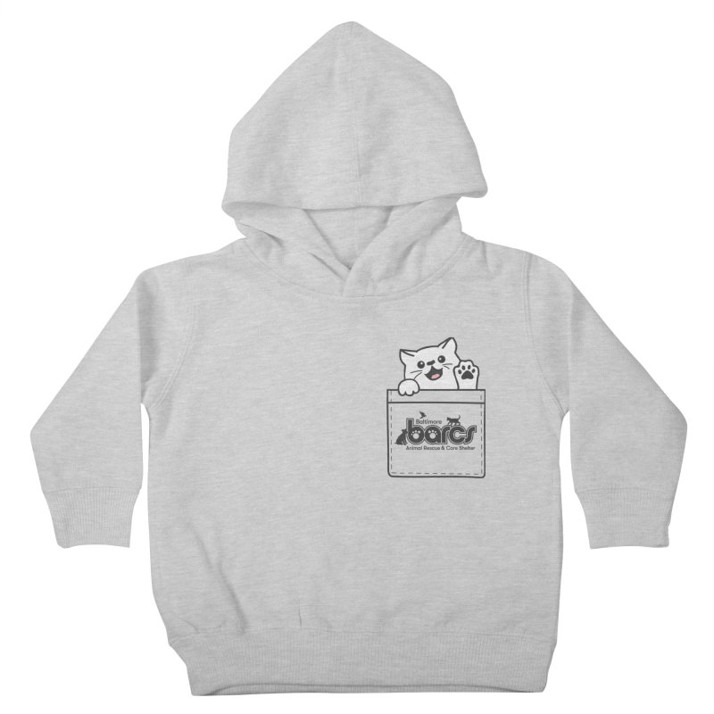 BARCS Logo Pocket Pals (Kitty) Kids Toddler Pullover Hoody by BARCS Online Shop
