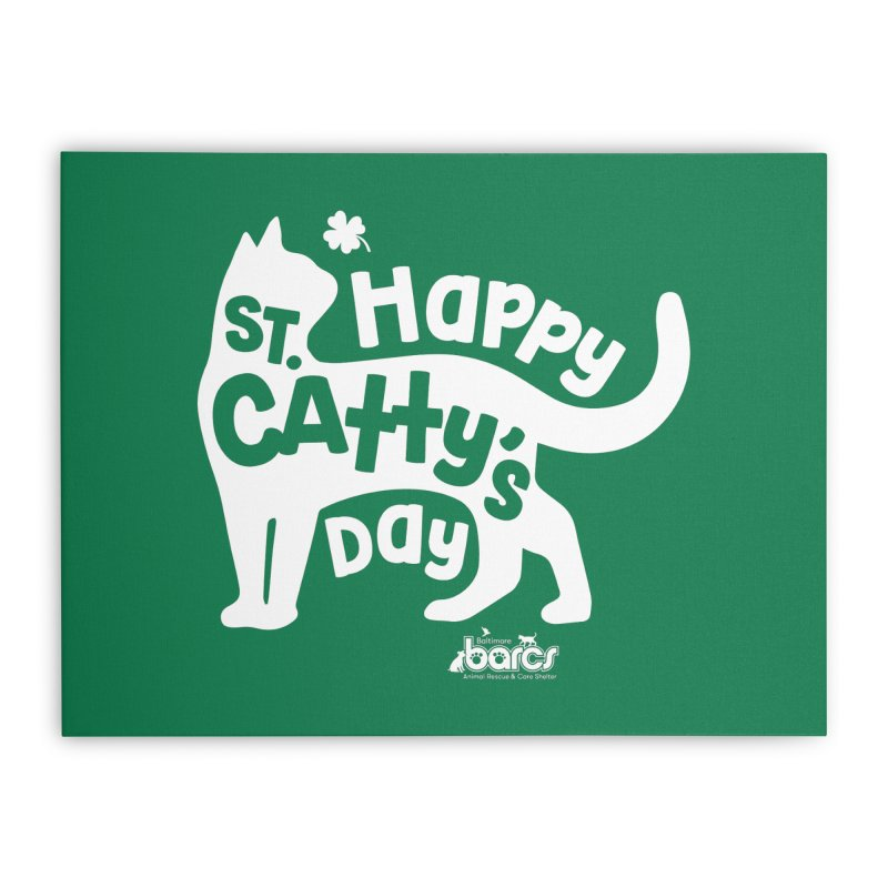 St. Catty's Day Home Stretched Canvas by BARCS Online Shop