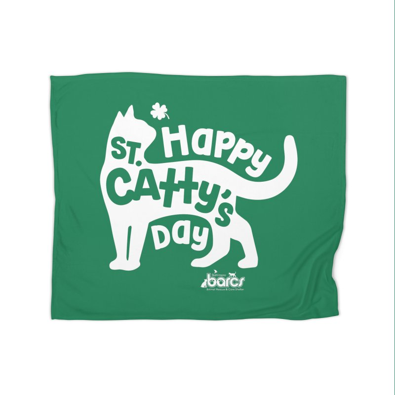St. Catty's Day Home Blanket by BARCS Online Shop