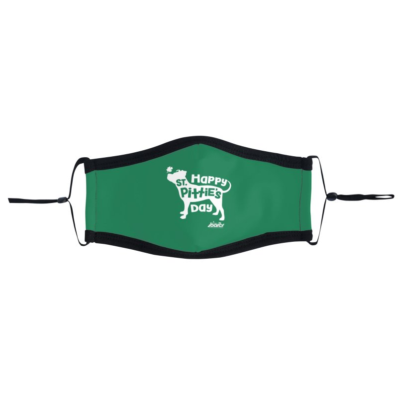 St. Pittie's Day Accessories Face Mask by BARCS Online Shop