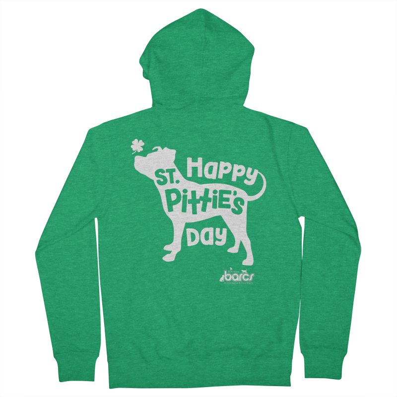 St. Pittie's Day Women's Zip-Up Hoody by BARCS Online Shop