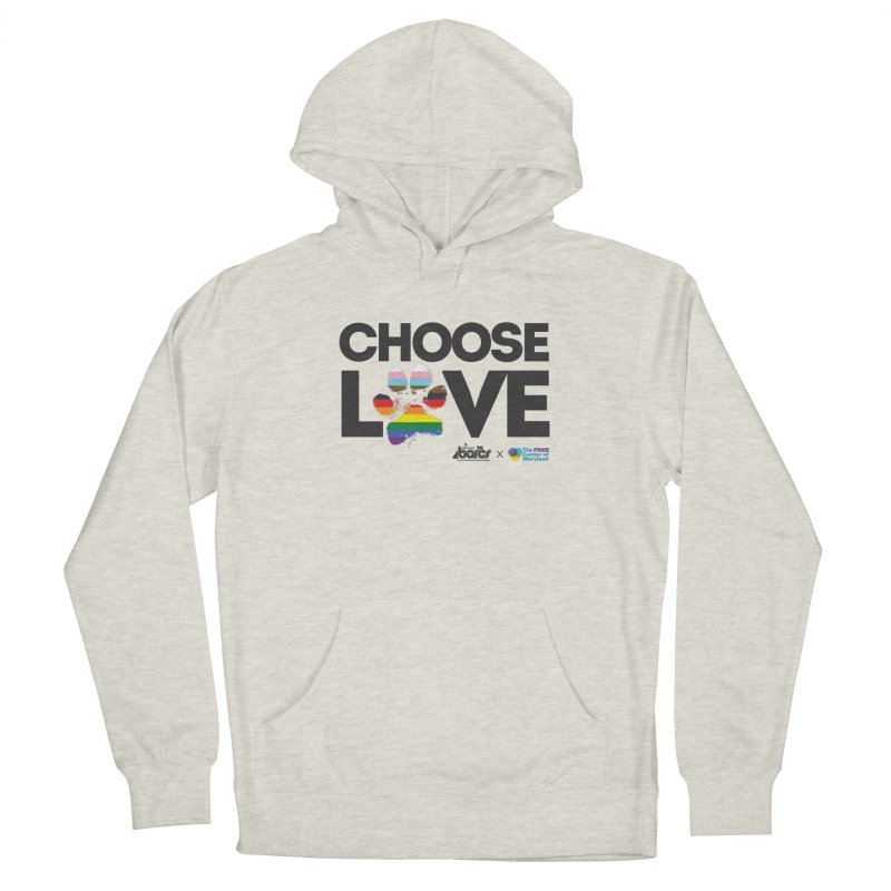 Choose Love - BARCS x The Pride Center of Maryland Men's Pullover Hoody by BARCS Online Shop