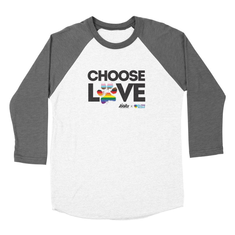 Choose Love - BARCS x The Pride Center of Maryland Women's Longsleeve T-Shirt by BARCS Online Shop