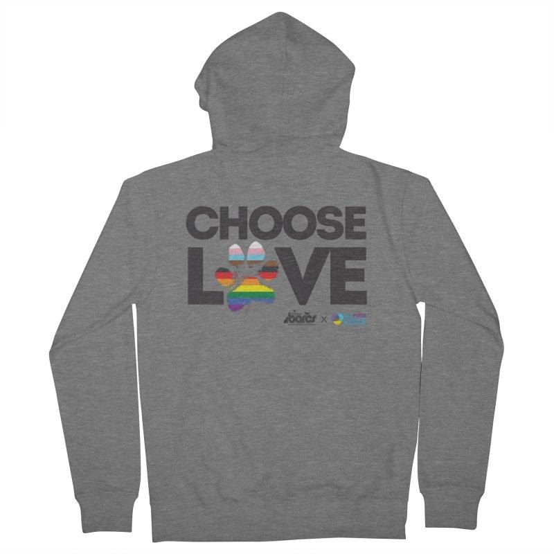 Choose Love - BARCS x The Pride Center of Maryland Men's Zip-Up Hoody by BARCS Online Shop