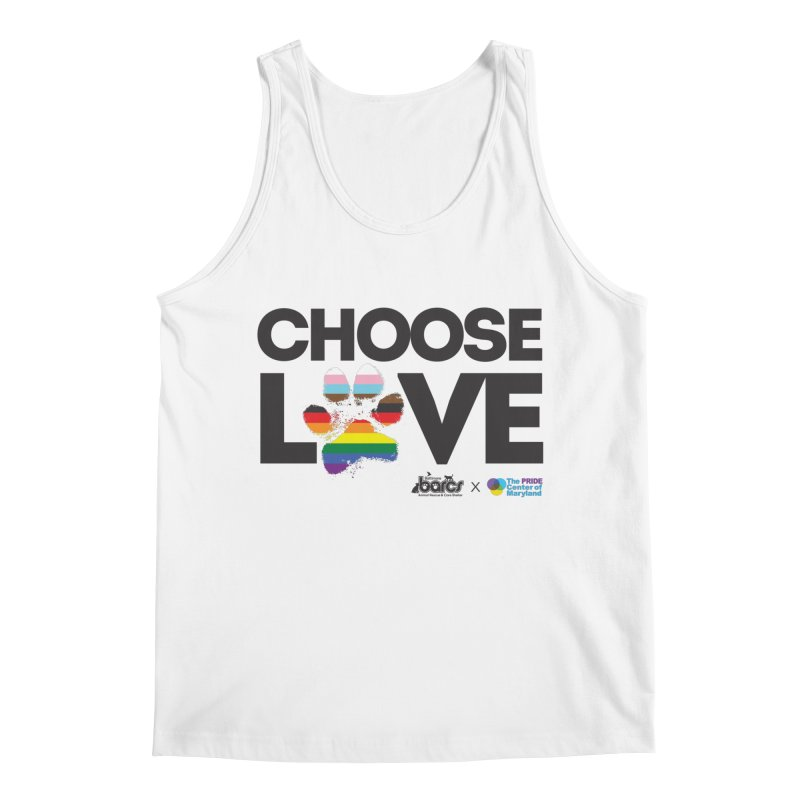 Choose Love - BARCS x The Pride Center of Maryland Men's Tank by BARCS Online Shop