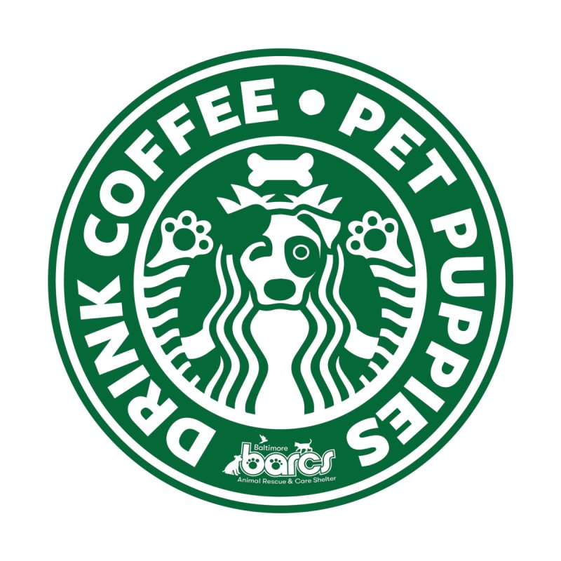 Drink Coffee Pet Puppies Women's Tank by BARCS Online Shop