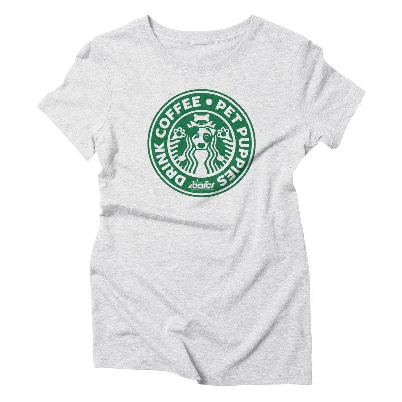 Drink Coffee Pet Puppies Women's T-Shirt by BARCS Online Shop