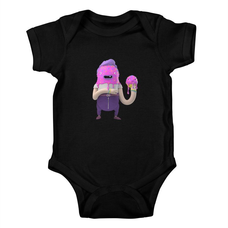 Hoola Bob Kids Baby Bodysuit by bard's Artist Shop