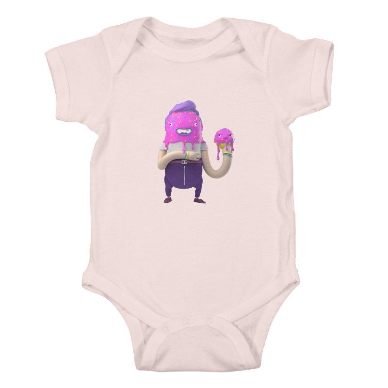 Hoola Bob Kids Baby Bodysuit by bard's Artist Shop