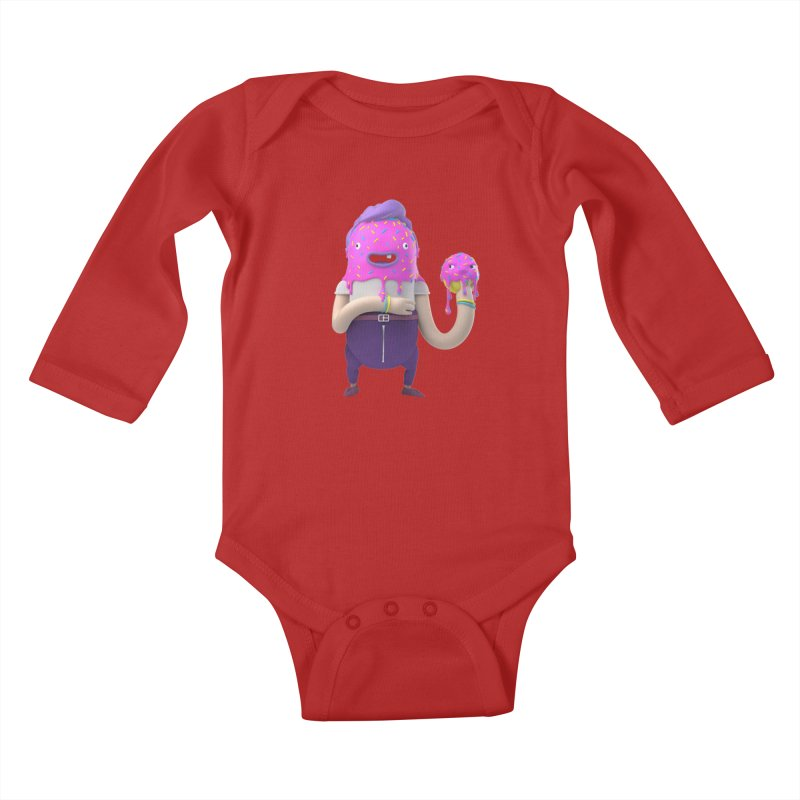 Hoola Bob Kids Baby Longsleeve Bodysuit by bard's Artist Shop