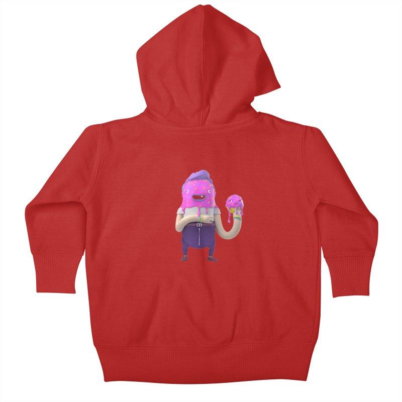 Hoola Bob Kids Baby Zip-Up Hoody by bard's Artist Shop