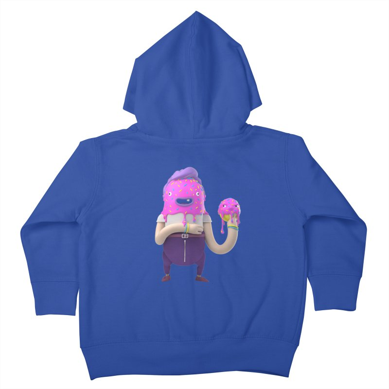 Hoola Bob Kids Toddler Zip-Up Hoody by bard's Artist Shop